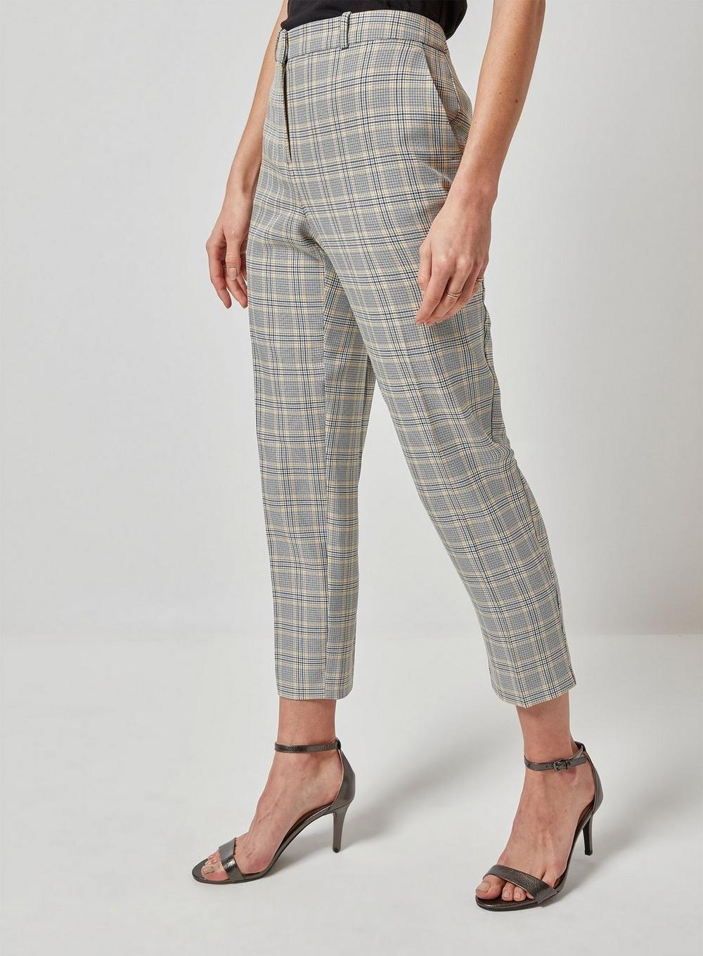 35e7ca17ee Dorothy Perkins - Gray Multi Colour Summer Checked Ankle Grazer Trousers -  Lyst. View fullscreen