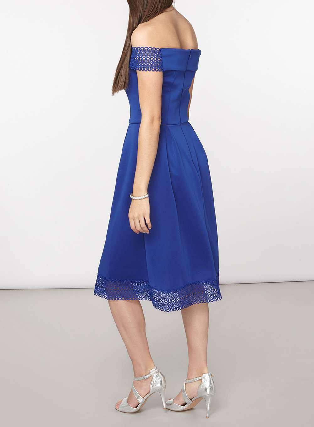 Lyst Dorothy Perkins Tall Cobalt Bardot Fit And Flare