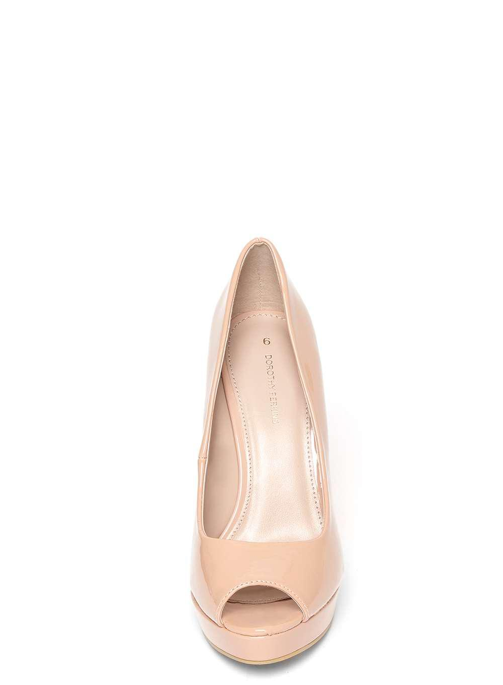 905603b4 Dorothy Perkins Nude 'gift' Peep Toe Court Shoes in Natural - Lyst