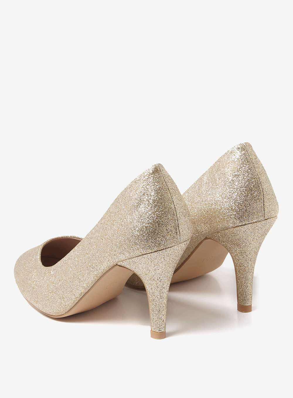 bea192b8615 Lyst - Dorothy Perkins Wide Fit Gold  claudia  Court Shoes in Metallic