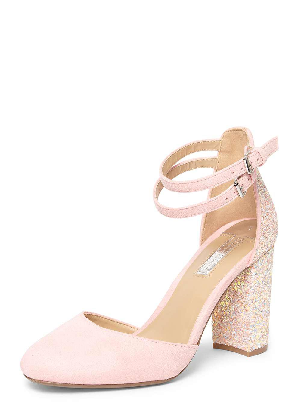 82e902d1f7f6 Dorothy Perkins Pink 'gally' Glitter Court Shoes in Pink - Lyst