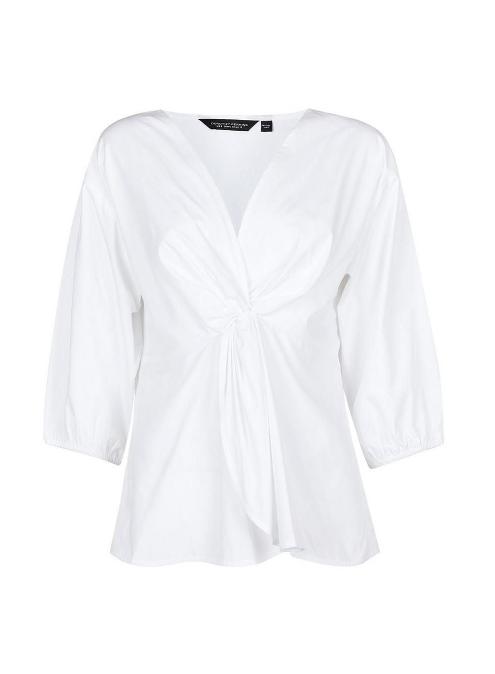 e335a3c0fbe1a0 Lyst - Dorothy Perkins White Peplum Top in White