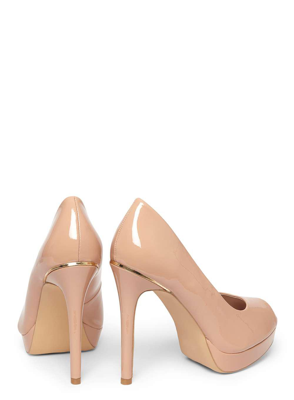 9361cebe50de Lyst - Dorothy Perkins Wide Fit Nude  gift  Peep Toe Platform Heel ...
