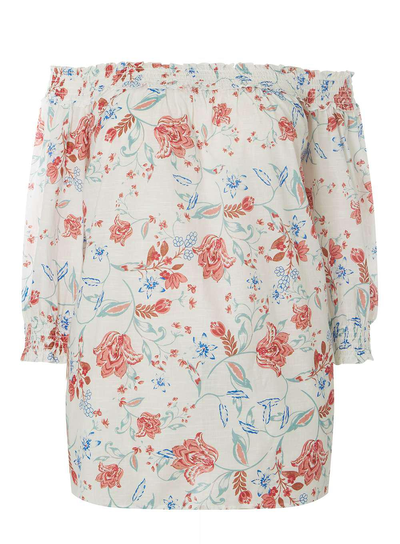 Dorothy Perkins Womens Ivory Folk Floral Print Bardot Top- Brand New Unisex Free Shipping Pay With Visa zj94StmRD