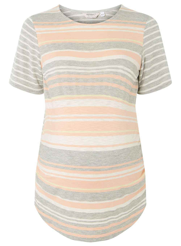 Dorothy Perkins. Women's Orange Maternity Apricot Striped T-shirt