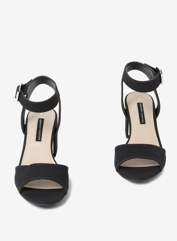 77d97f9cf758a4 Lyst - Dorothy Perkins Black  sabrina  Block Heel Sandals in Black