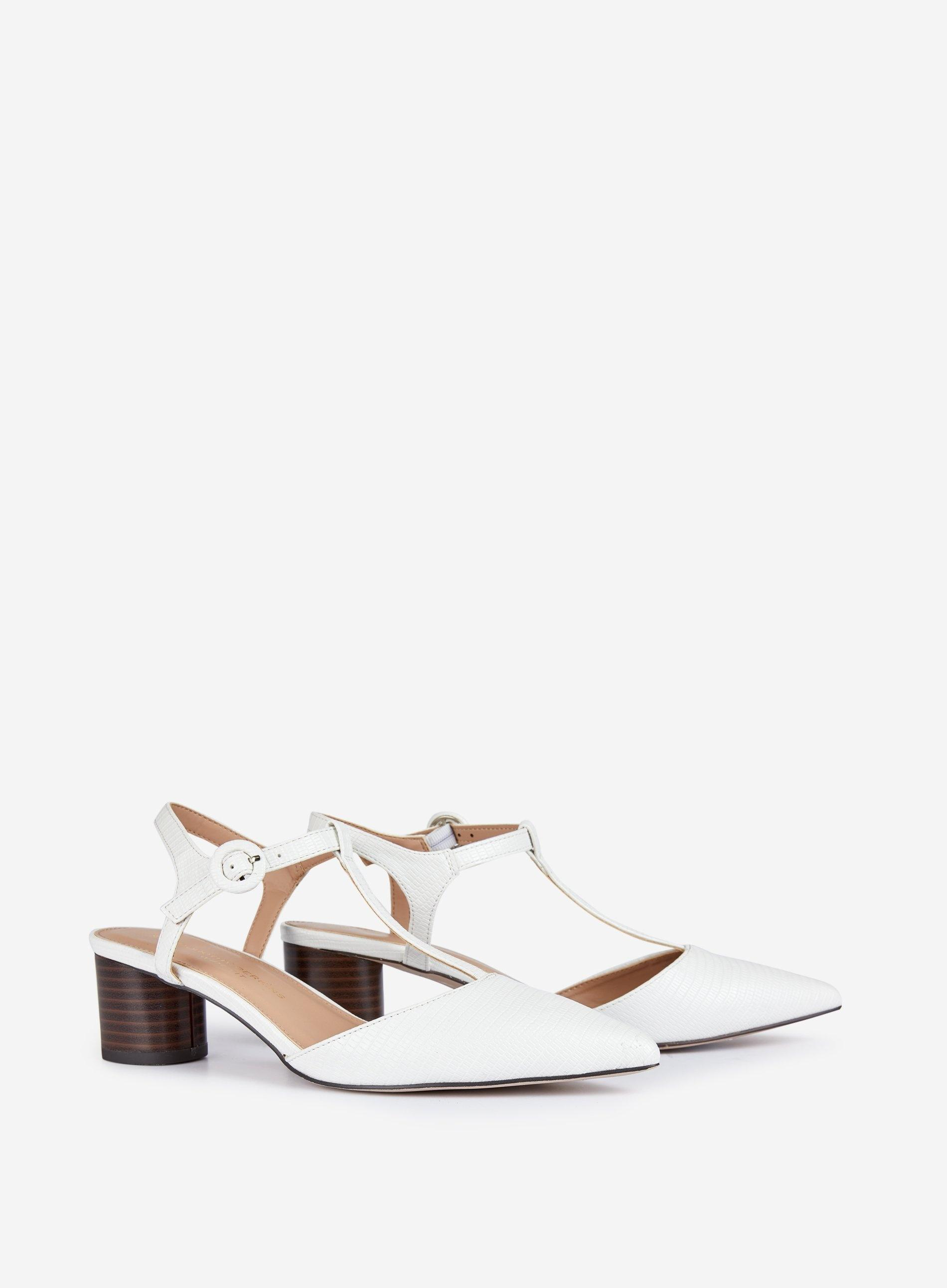 c20bb49f06 Lyst - Dorothy Perkins Wide Fit White 'eilis' T-bar Court Shoes in White