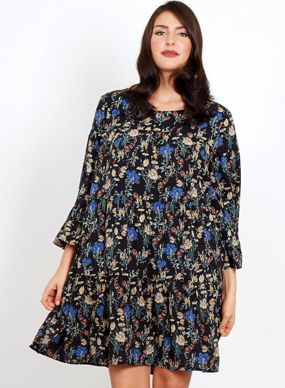 Dorothy perkins blue vanilla curve blue floral skater dress in blue jpg  1000x1360 Vanilla skater dress 8617ffadb