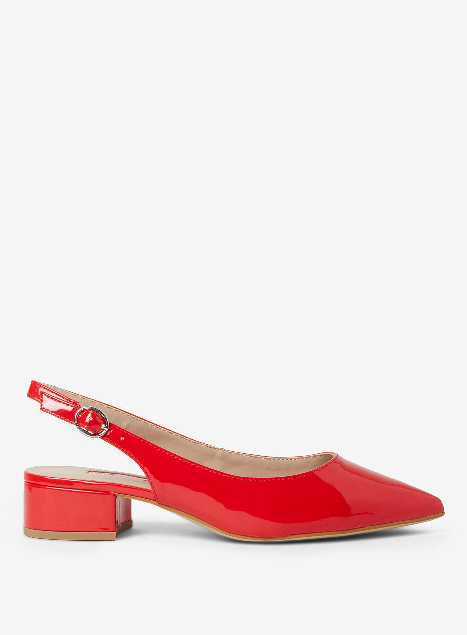 3979e21697 Lyst - Dorothy Perkins Red 'daphne' Block Heel Court Shoes in Red