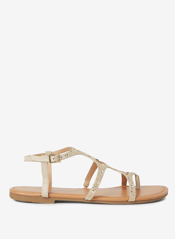 Dorothy Perkins FRANKEE - T-bar sandals - gold gUljnv