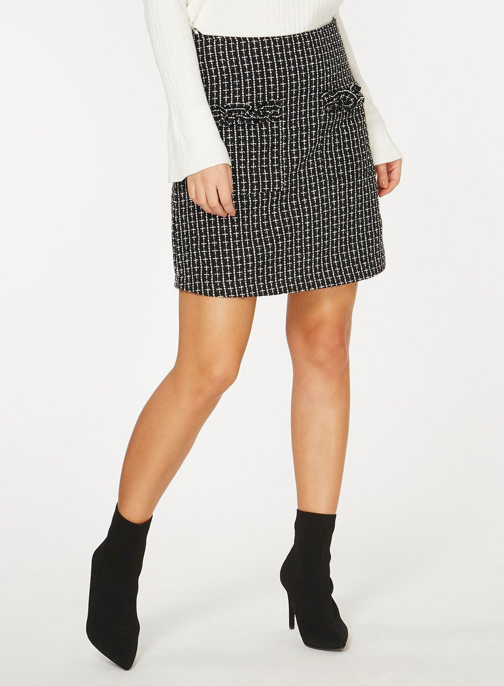 Dorothy Perkins Womens Monochrome Boucle A-Line Skirt- Free Shipping Really Discount Get Authentic Cheap Great Deals Shop For SRKCE5T