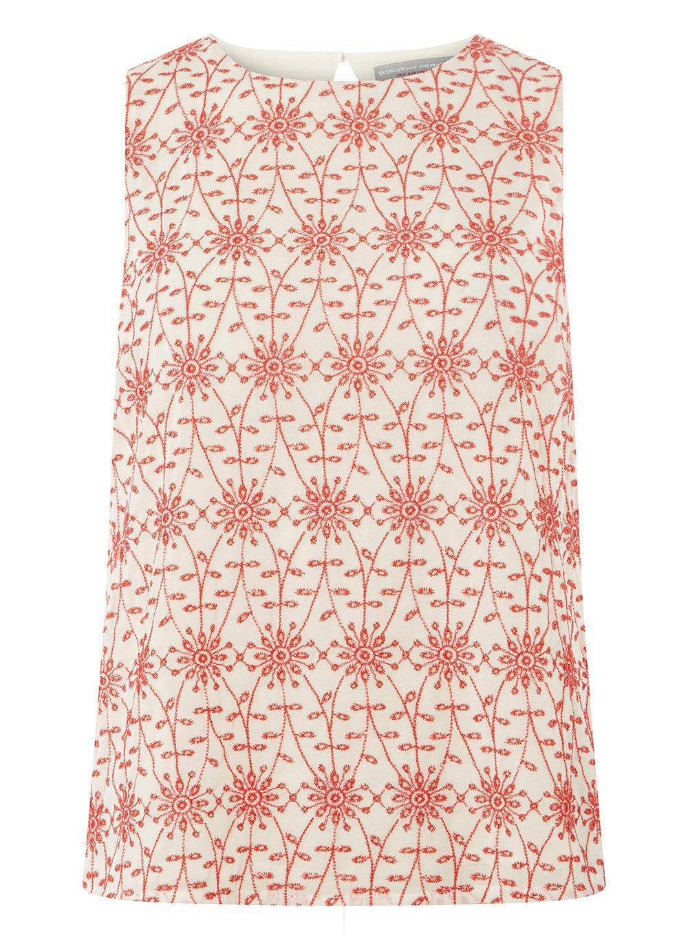 Dorothy Perkins Womens Cutwork Shell Top- Big Discount Cheap Sale For Nice Visit For Sale iiOHww4uFn