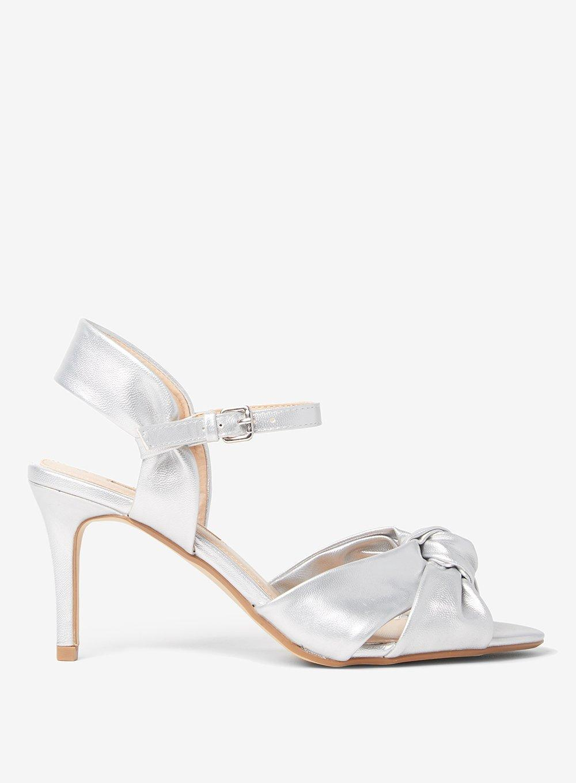 2dfc52180760b Lyst - Dorothy Perkins Silver  breeze  Heeled Sandals in Metallic