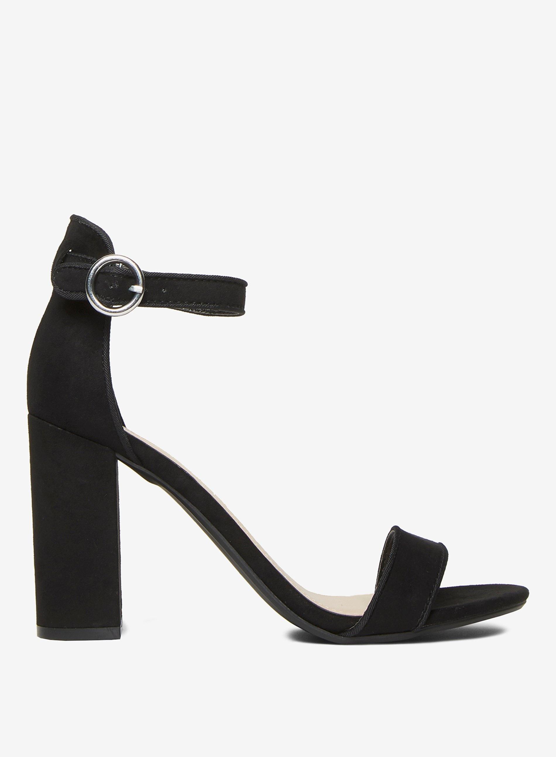 662ea462a1 Lyst - Dorothy Perkins Black Shimmy Block Heeled Sandal in Black