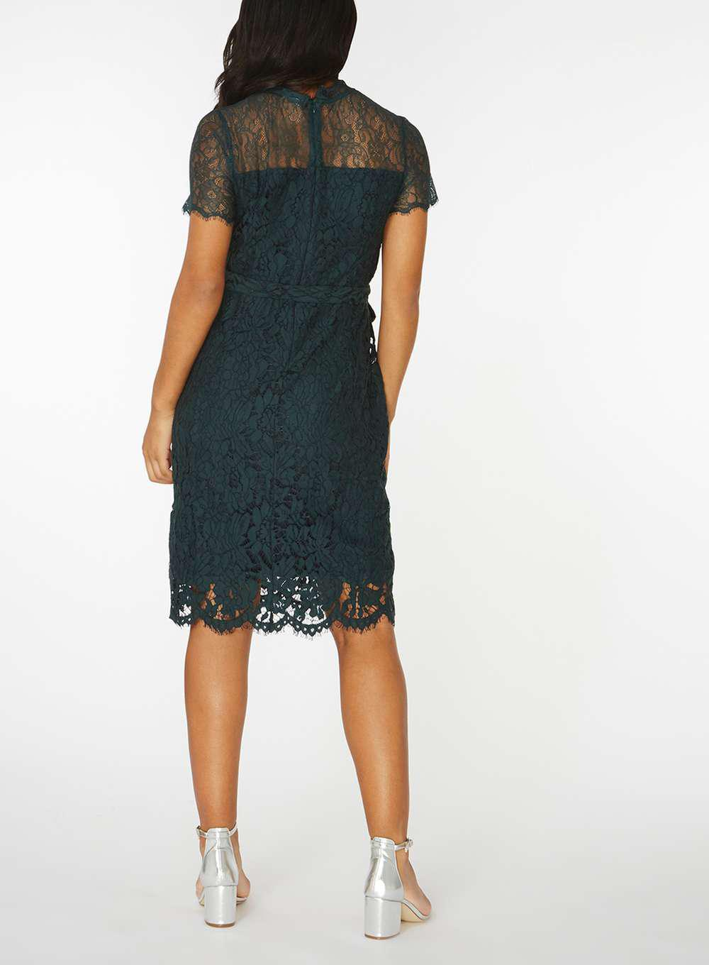 4996bd3d07 Lyst - Dorothy Perkins Mamalicious Maternity Green Woven Lace Shift ...