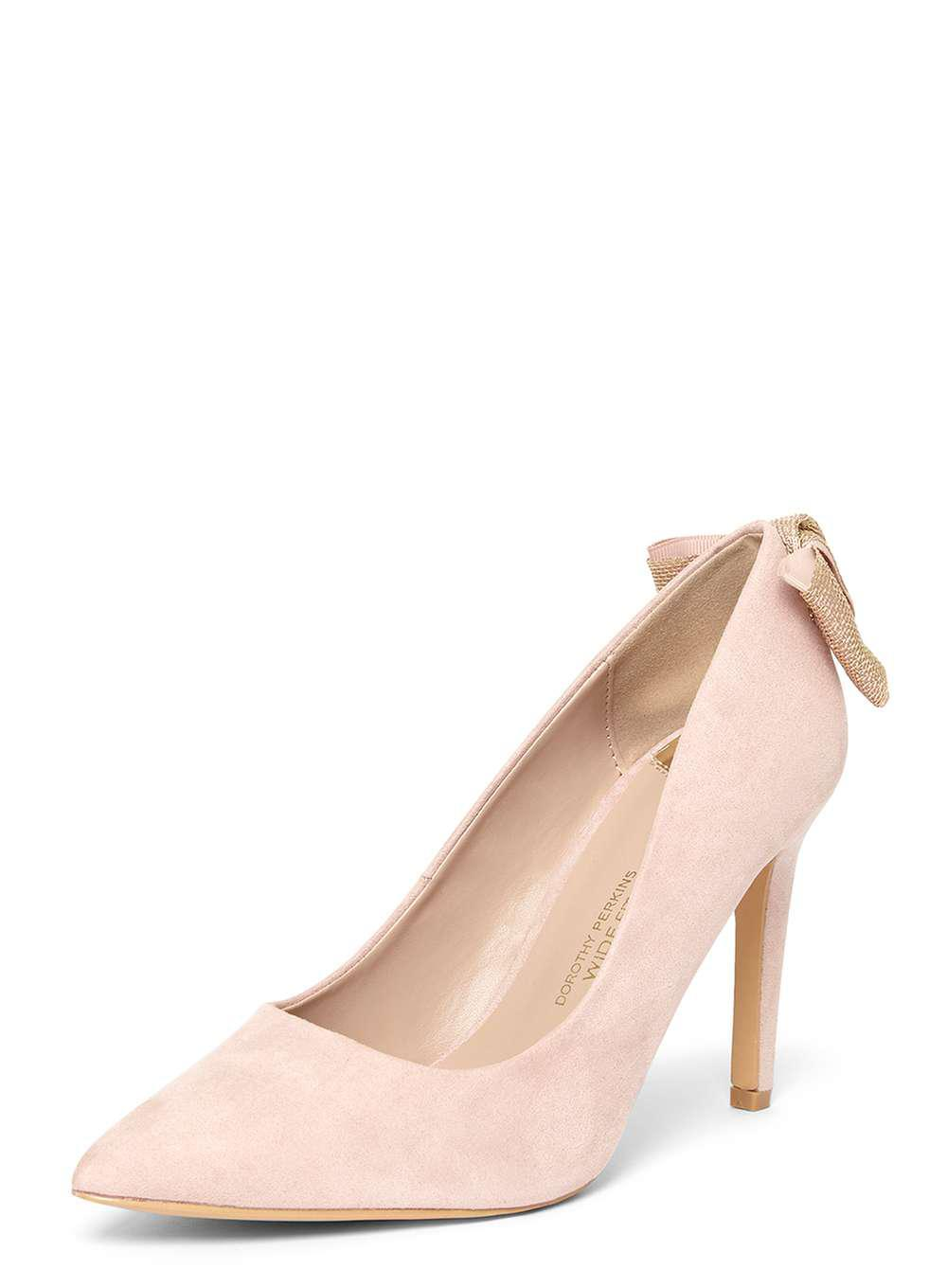 f3684bb8584 Lyst - Dorothy Perkins Wide Fit Exclusive Blush  esta  Court Shoes ...