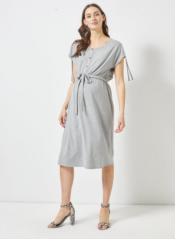 ab288ebf5c064 Dorothy Perkins - Gray Maternity Grey Jersey Midi Shift Dress - Lyst. View  fullscreen