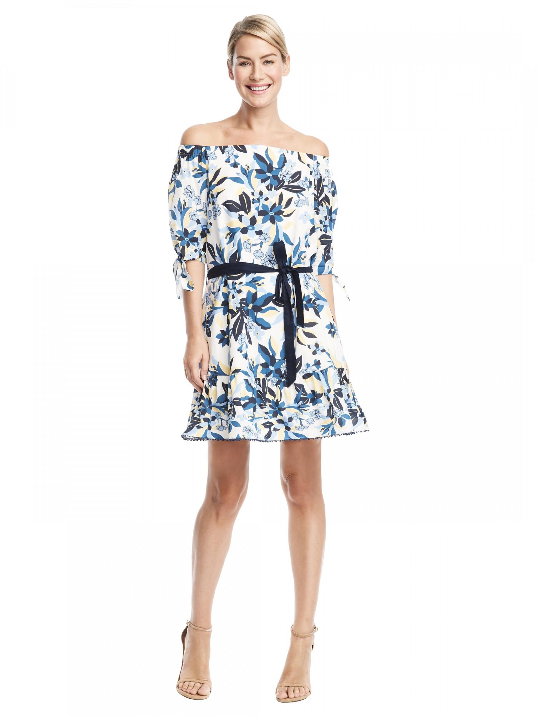 Draper james Bellamy Floral Cover Up in Blue