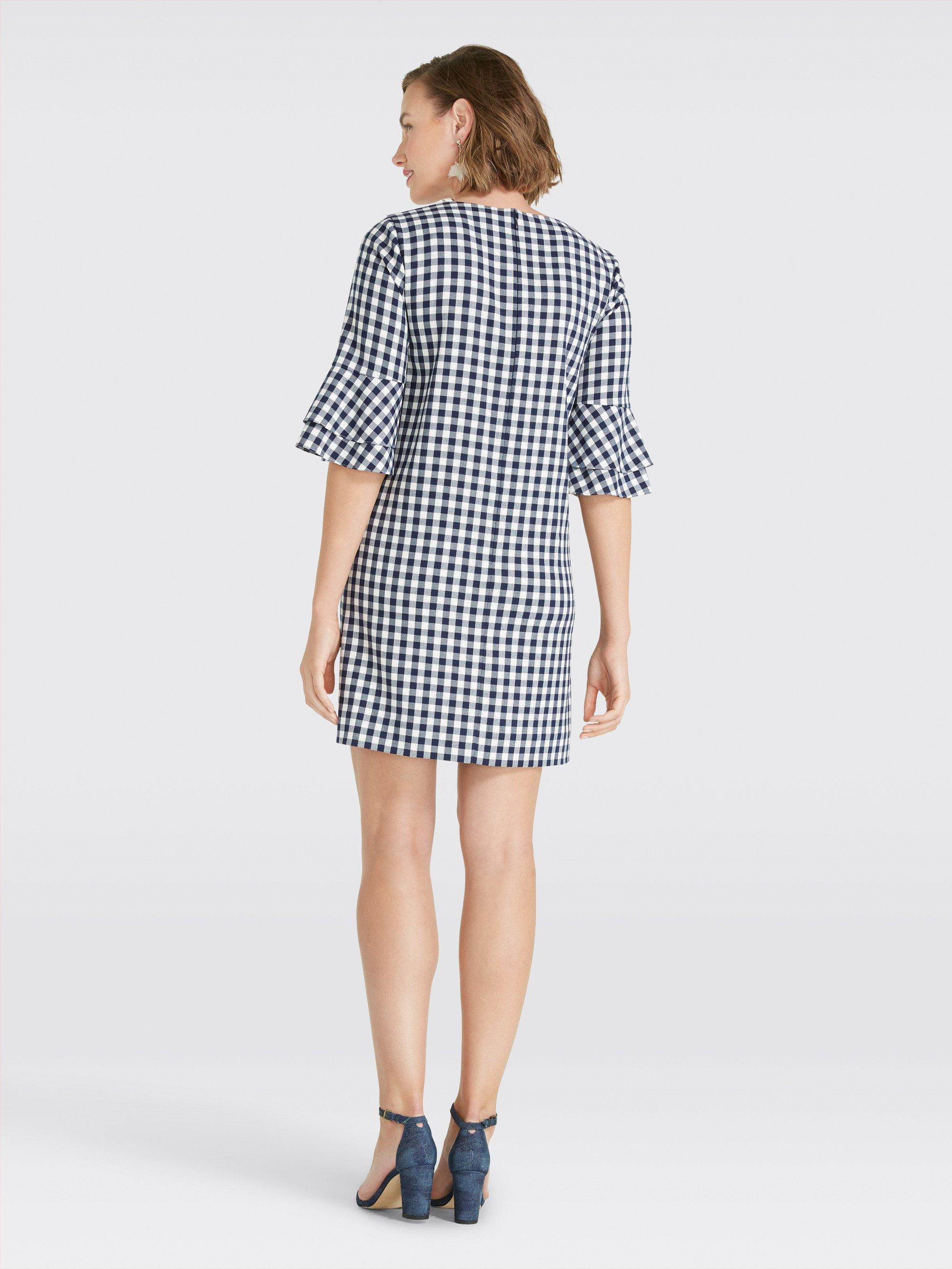 57b8a28f9d2 Draper James - Blue Gingham Bell Sleeve Shift Dress - Lyst. View fullscreen