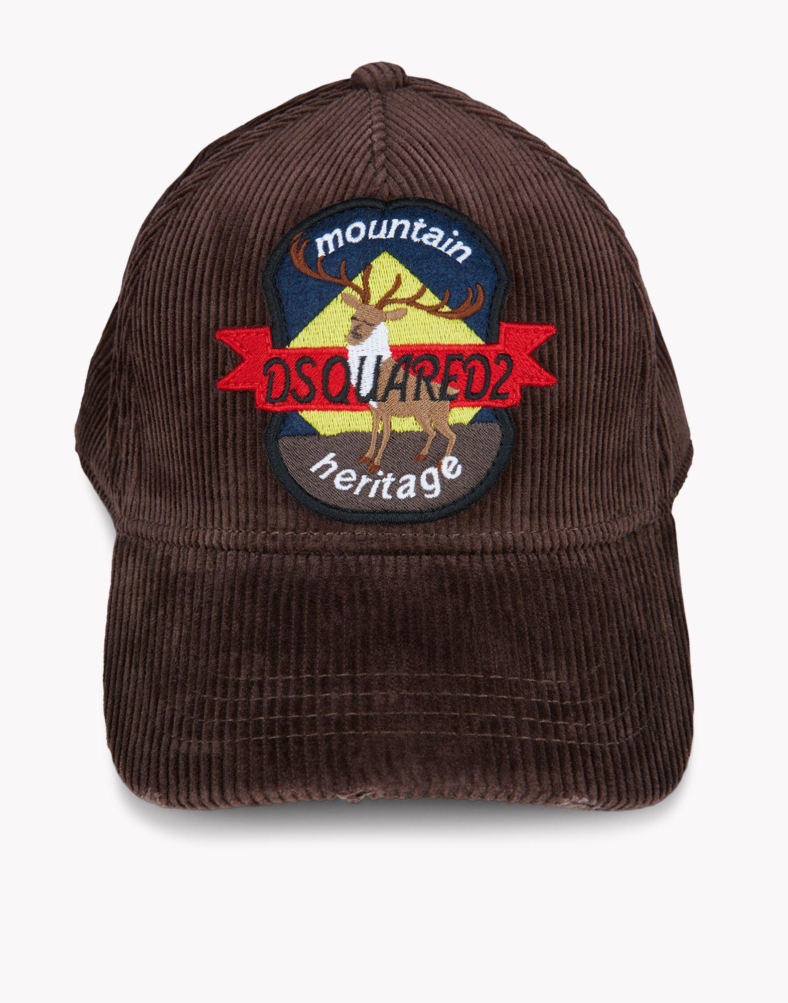 Lyst - DSquared² Corduroy Patch Baseball Cap in Brown for Men cbd7358891ed