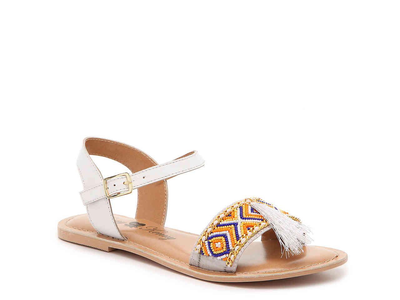 Penny Loves Kenny Syclone Tassel Ankle Strap Sandal (Women's) mgUXj