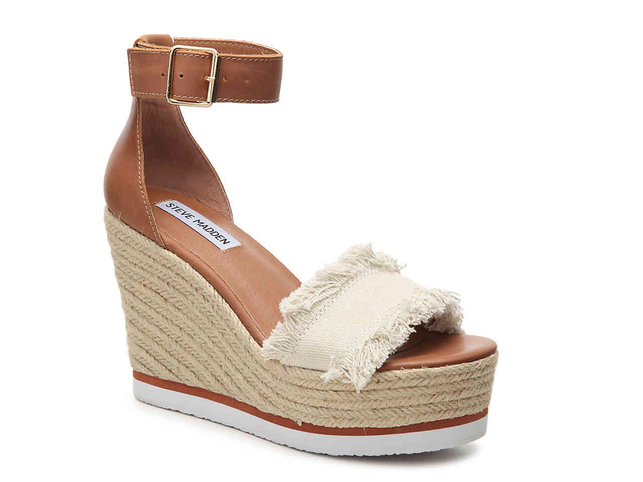 bf71c440bfb Lyst - Steve Madden Valley Wedge Sandal in Natural