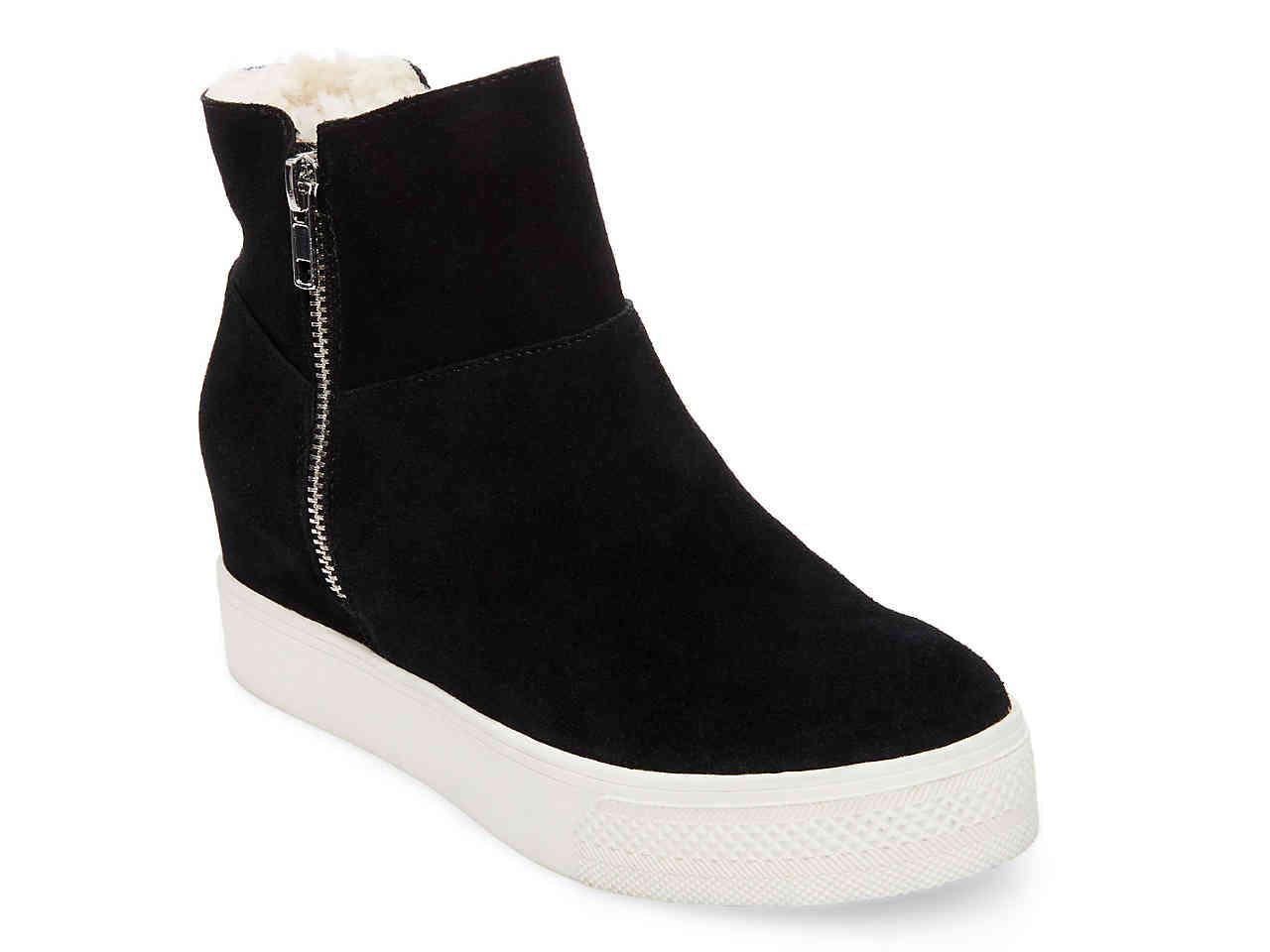 Lyst - Steve Madden Wanda Wedge Sneaker in Black c5fde0d6dc2