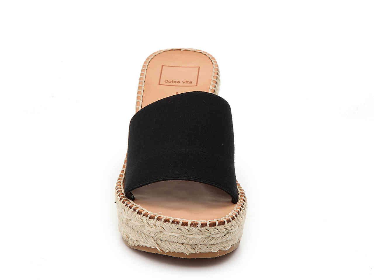 9263d44ad41 Dolce Vita - Black Pim Espadrille Wedge Sandal - Lyst. View fullscreen