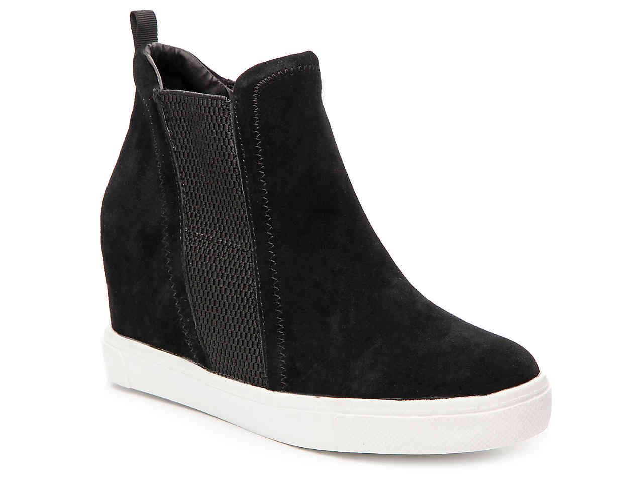 42dc0d5ac607 Lyst - Steve Madden Leii Wedge Sneaker in Black