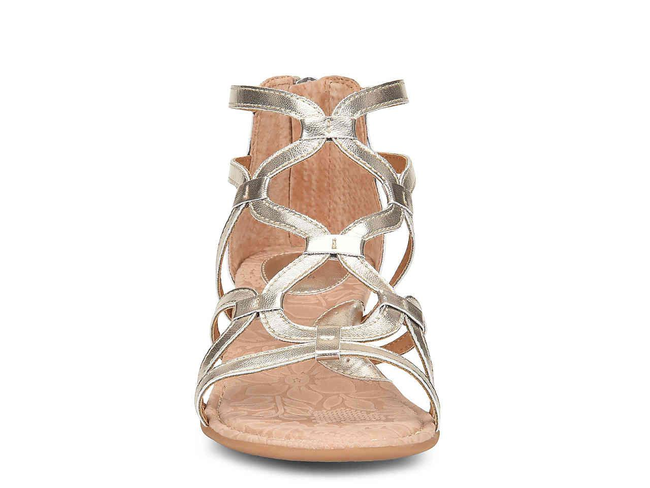 3f5e3504c691 Metallic Pawel Wedge Gladiator Sandal - Lyst. View fullscreen