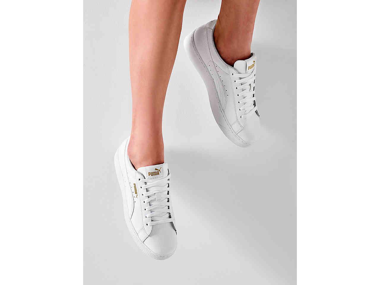 767523c2f44e PUMA - White Vikky Platform Sneaker - Lyst. View fullscreen