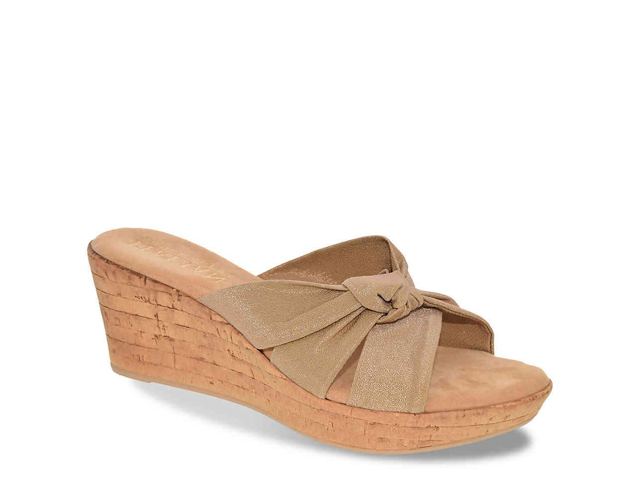 Italian Shoemakers Crisscross Wedge Sandal wVhCGAKFY