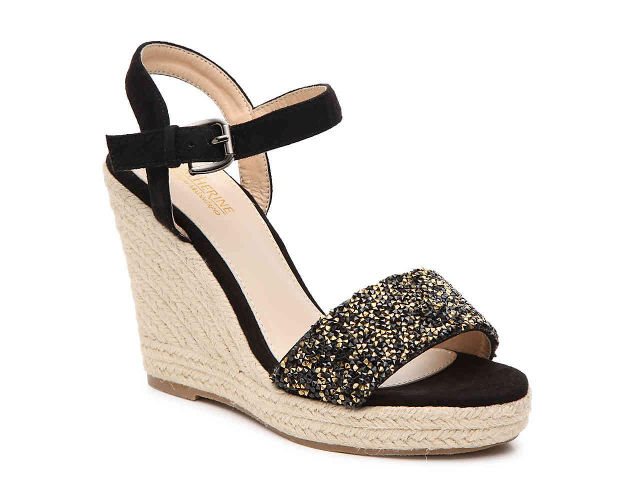 8440304bb18 Lyst - Catherine Malandrino Grison Espadrille Wedge Sandal in Metallic