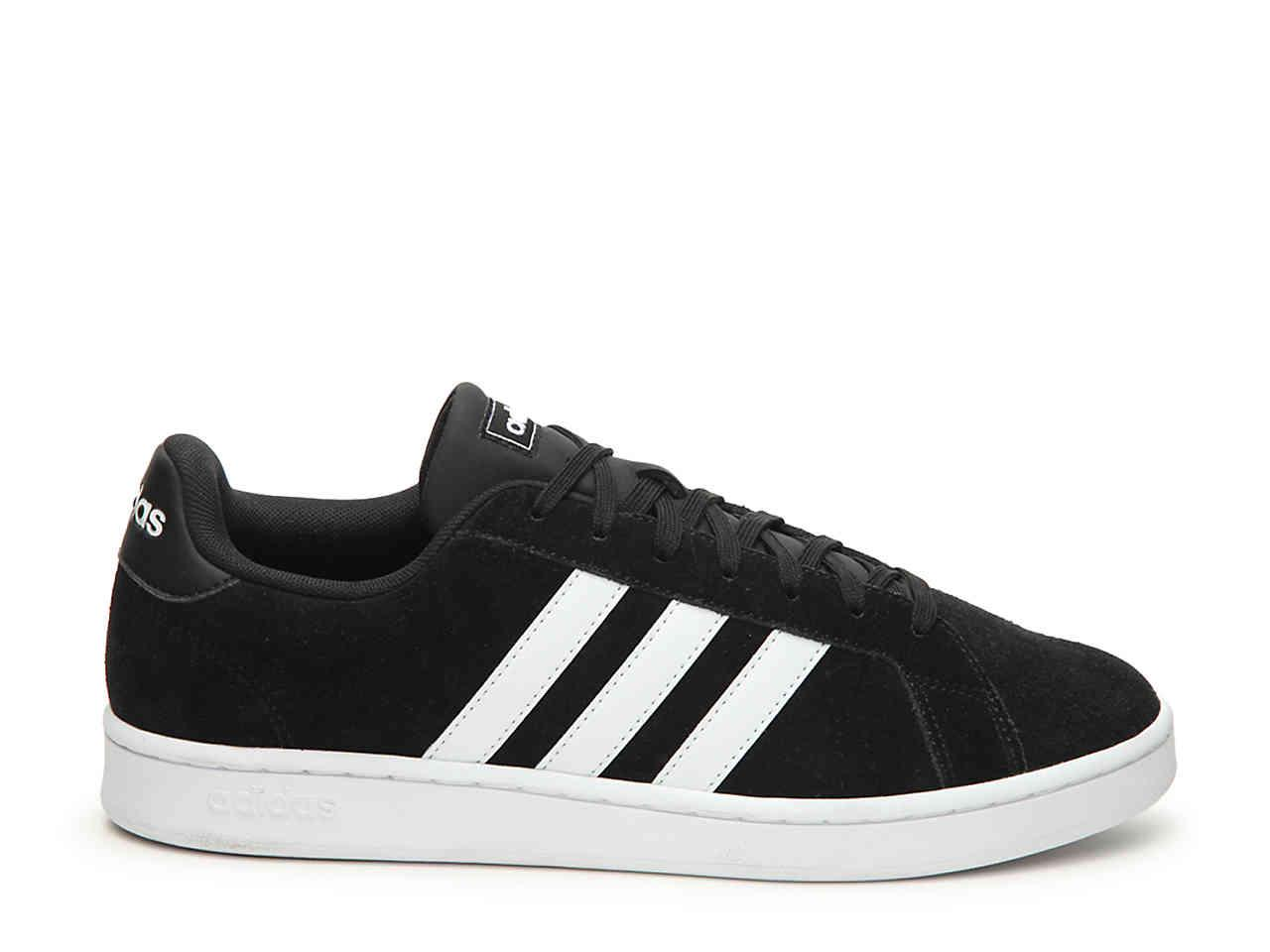 official photos ea06f a9678 adidas Grand Court Sneaker in Black for Men - Lyst