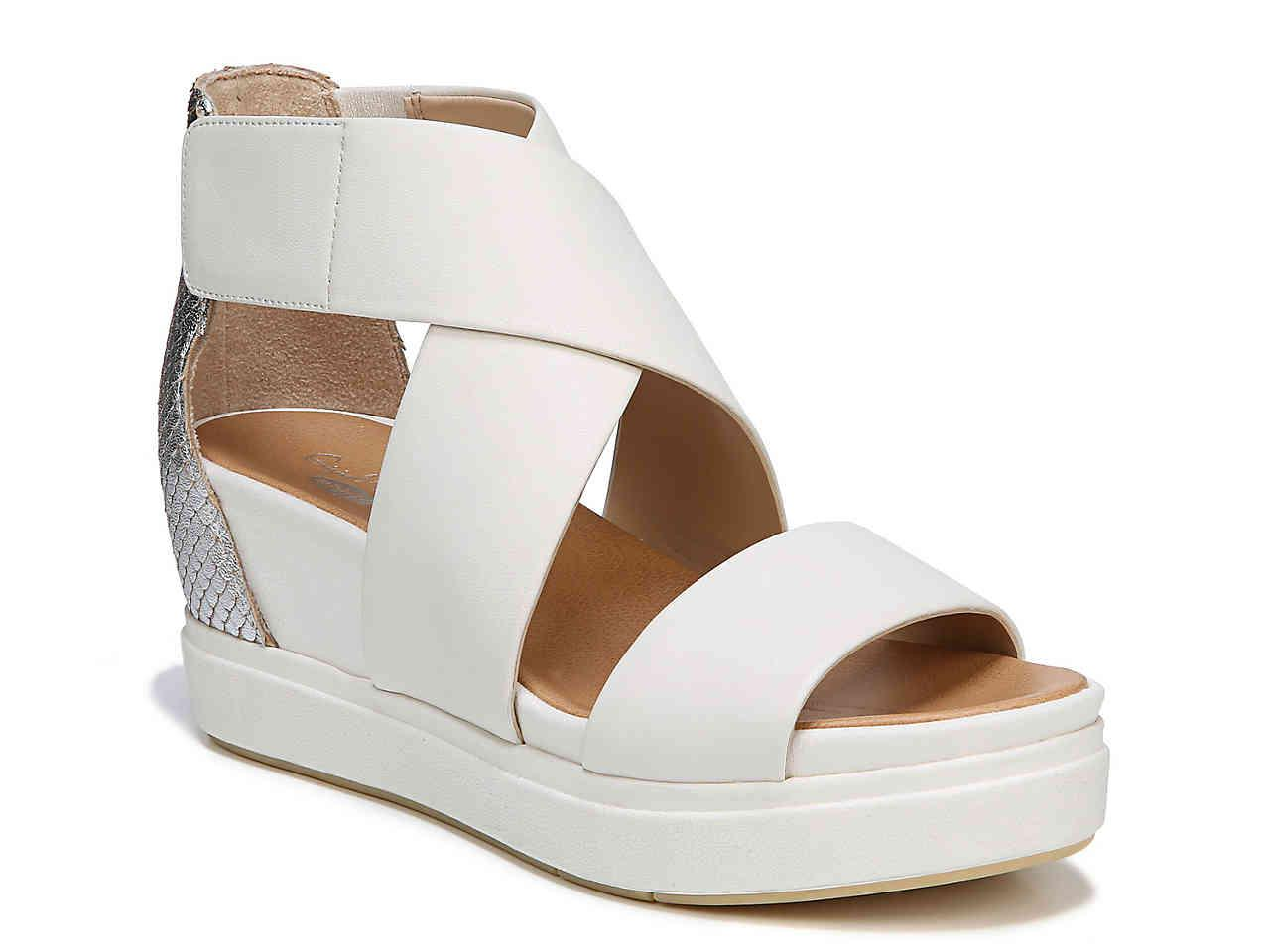 0ebc879da Lyst - Dr. Scholls Scout High Wedge Sandal in White - Save ...