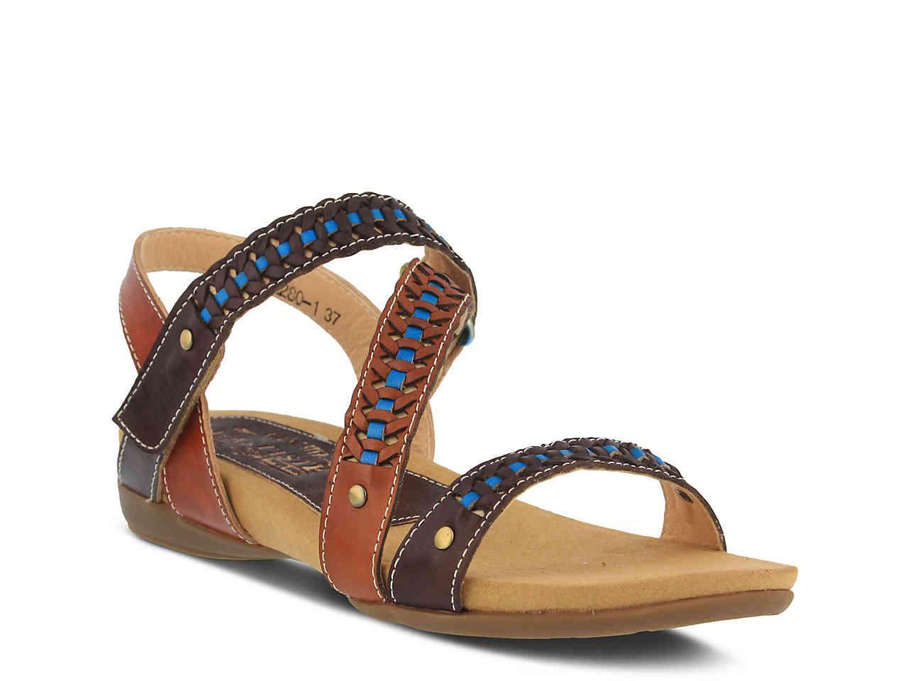 bf7f5caae0a Lyst - Spring Step Joaquima Wedge Sandal in Brown