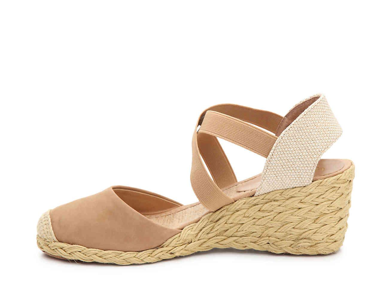 10b9f975778 Lyst - Lauren by Ralph Lauren Casandra Wedge Sandal in Natural