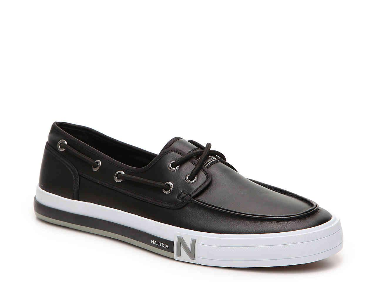 f2ffff8ca40 Lyst - Nautica Spinnaker Boat Shoe in Black