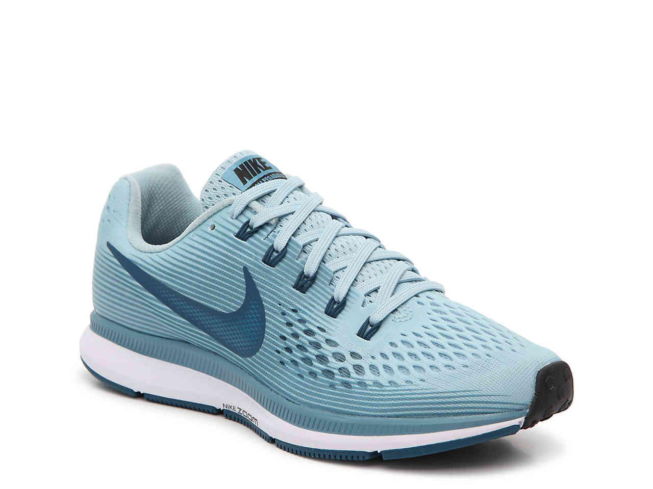 Lyst - Nike Women s Air Zoom Pegasus 34 Running Shoe in Blue 4d3b9d2b01