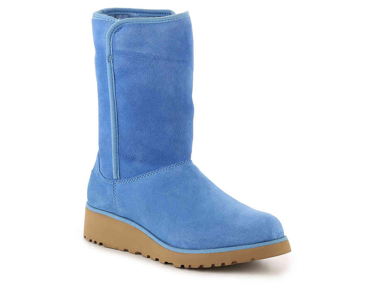 4fd1aa99a85fc Lyst - UGG Amie Wedge Boot in Blue