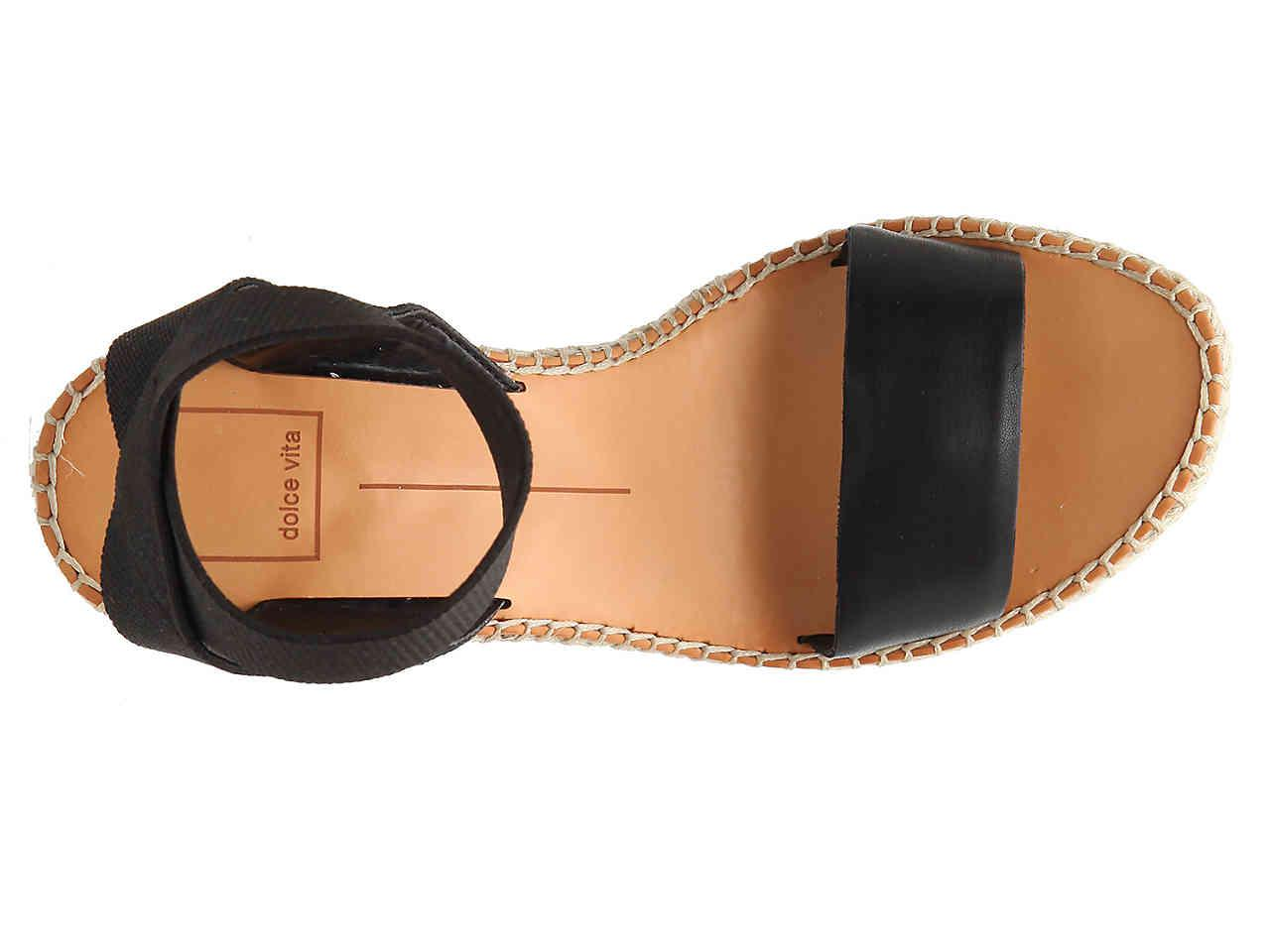 8a553c53661 Dolce Vita - Black Pavlin Espadrille Wedge Sandal - Lyst. View fullscreen