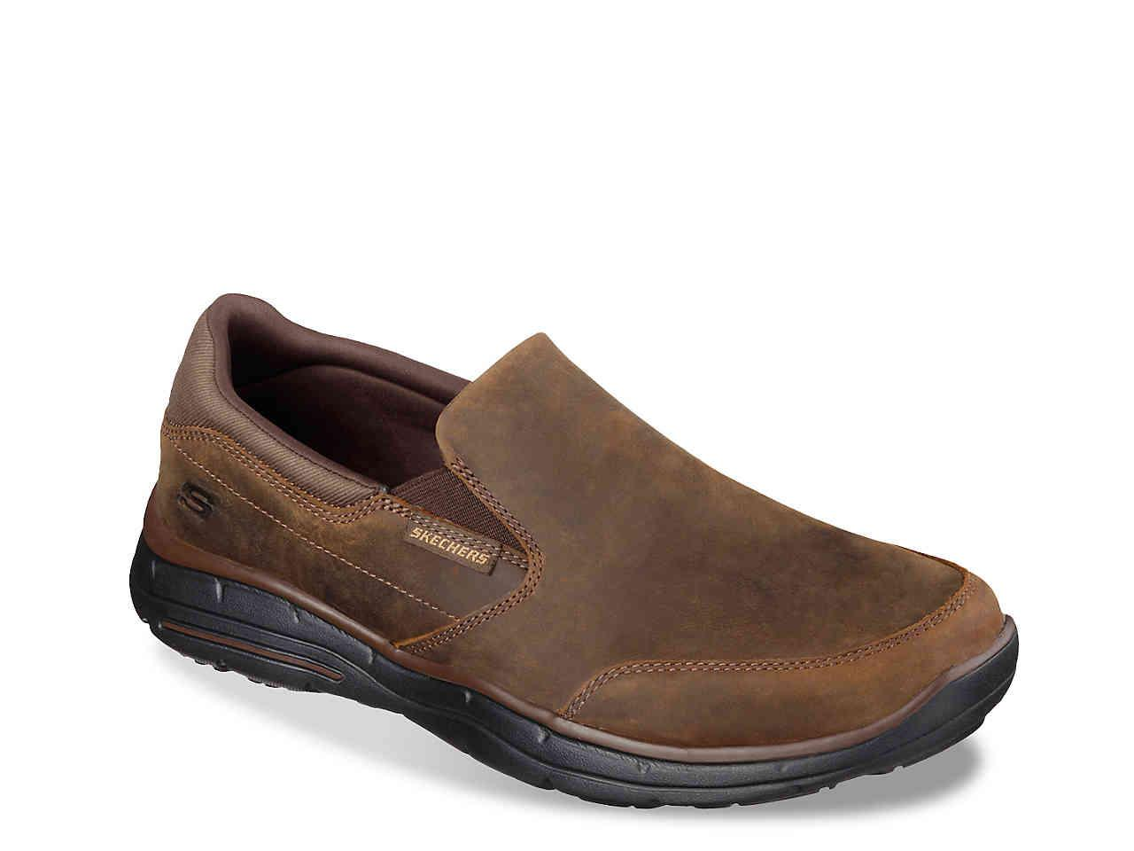 9fa2506e120 Skechers - Brown Relaxed Fit Glides Calculous Slip-on for Men - Lyst. View  fullscreen