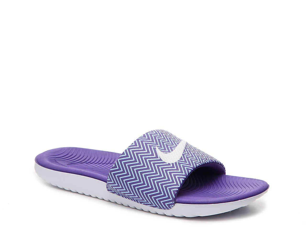 cadc74b0fe9a Lyst - Nike Kawa Print Slide Sandal in Purple
