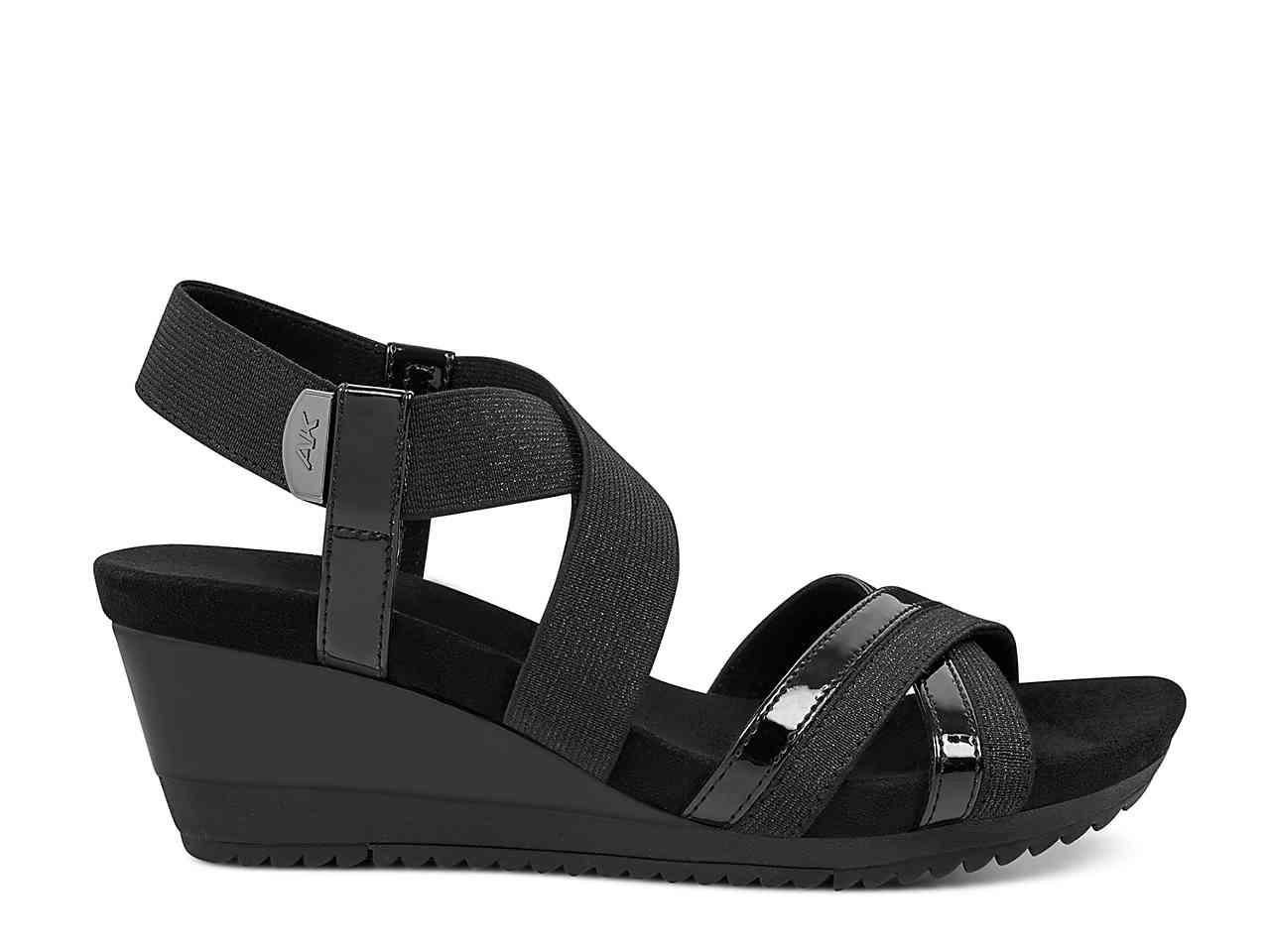 7631558fd04 Lyst anne klein sport siesta wedge sandal in black jpg 1280x960 Siesta wedge  anne klein sport