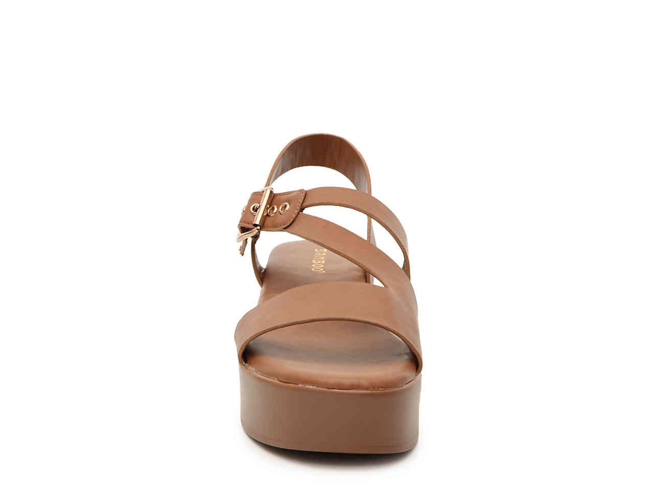 8eed796aa5b Bamboo - Brown Bonus Wedge Sandal - Lyst. View fullscreen