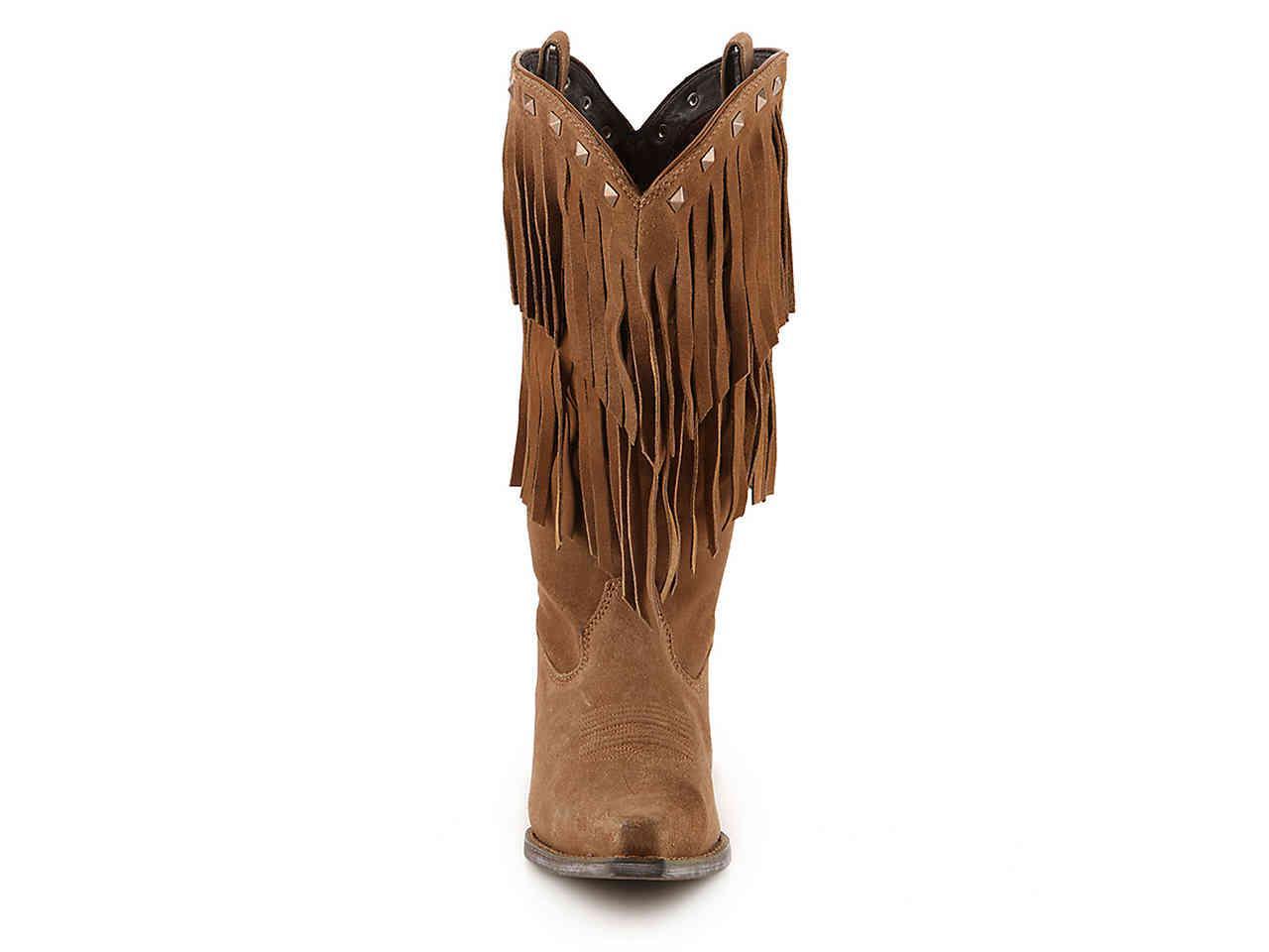 ce143fc6e7204e Lyst - Durango Fringe Cowboy Boot in Brown
