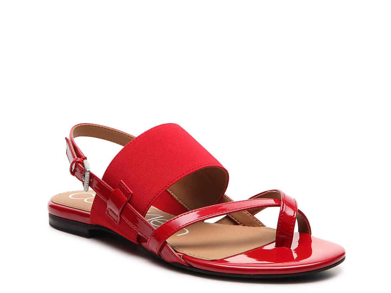 Calvin Klein Berry Patent Sandal BpWGhS3