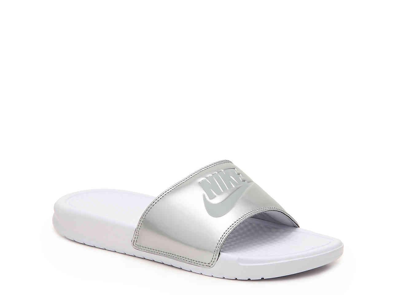 fcf488549fa13 Lyst - Nike Benassi Women s Slide Sandal in Metallic - Save 3%