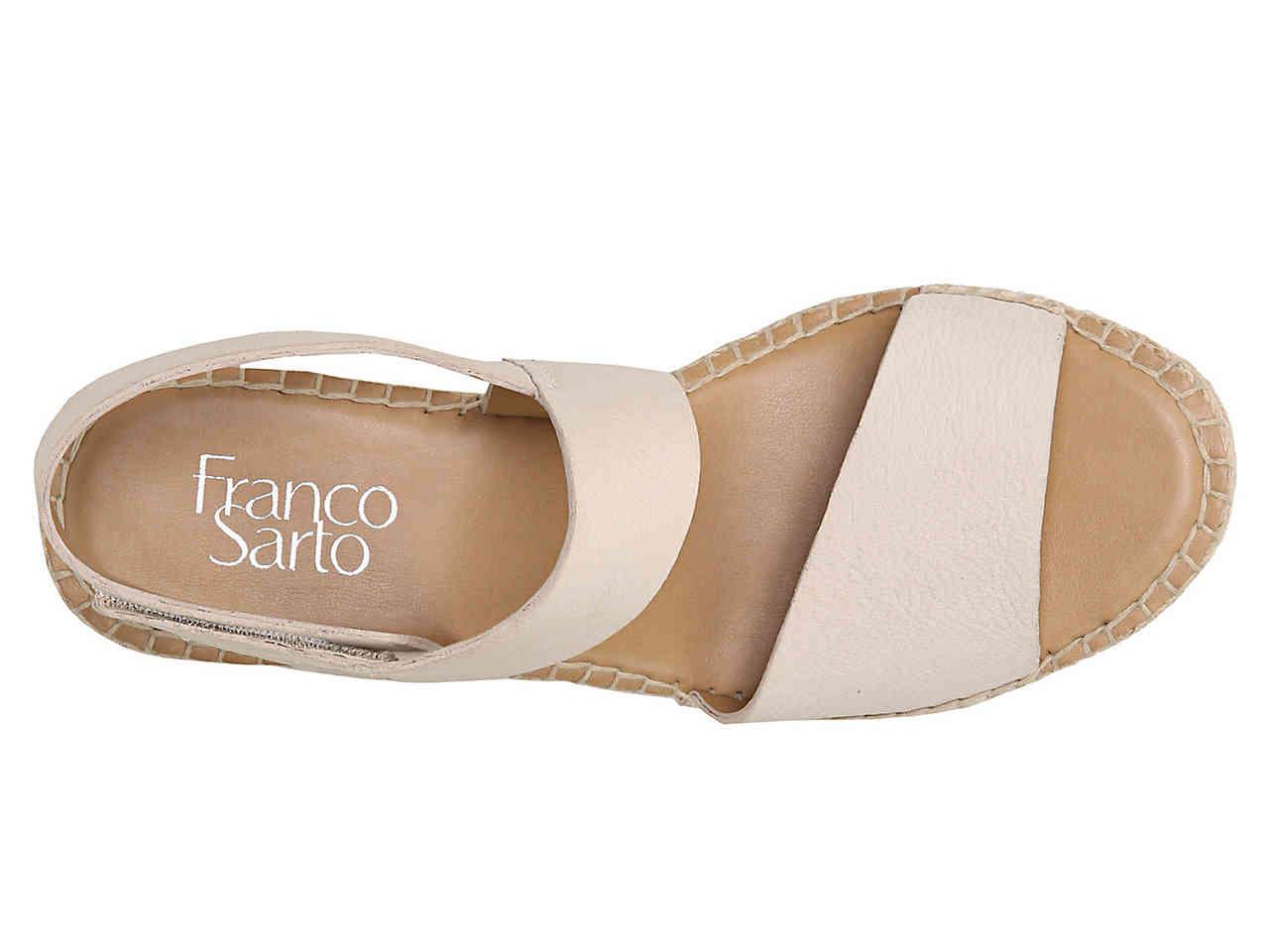 70f5c42ca8b Franco Sarto - Multicolor Tulsa Espadrille Wedge Sandal - Lyst. View  fullscreen