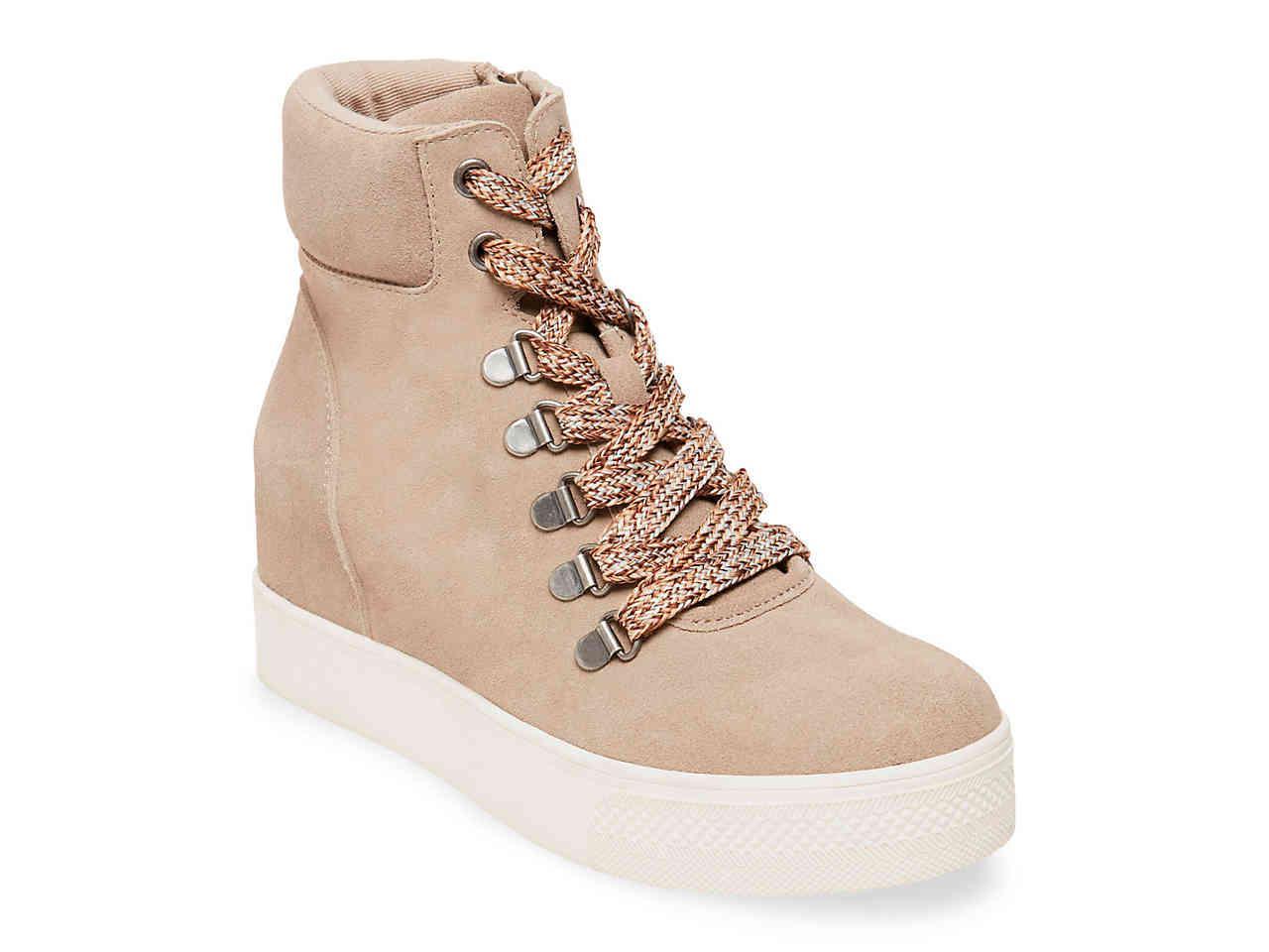 7253e6e01 Lyst - Steve Madden Catch Wedge Sneaker in Natural